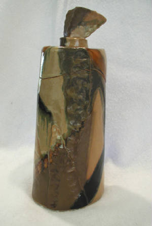 Stoneware covered pot - 2005