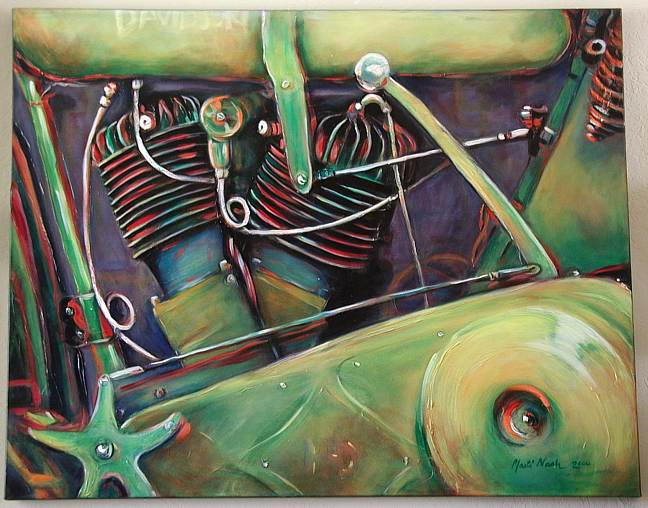 1918 V-Twin - 2000 - acrlyic on canvas